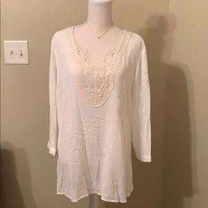 NWT Magnolia Grace Lace Cream Tunic Size XL